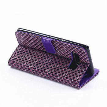 Cover Case for Samsung Galaxy Note 8 Fine Rhombic Leather - PURPLE