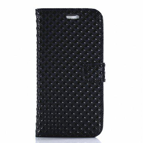 Cover Case for Samsung Galaxy S7 Edge Fine Rhombic Leather - BLACK