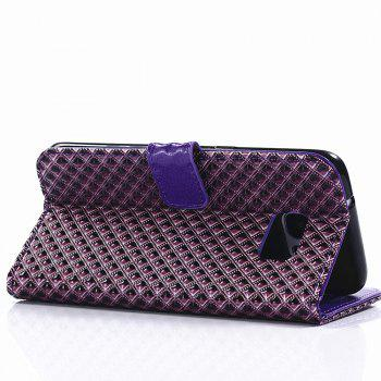 Cover Case for Samsung Galaxy S7 Edge Fine Rhombic Leather - PURPLE