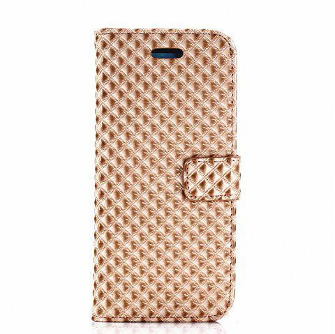 Cover Case for Samsung Galaxy S8 Fine Rhombic Leather - GOLDEN