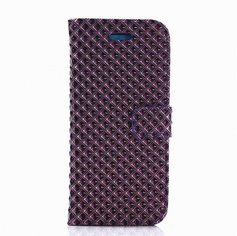 Cover Case for Samsung Galaxy S8 Fine Rhombic Leather - PURPLE