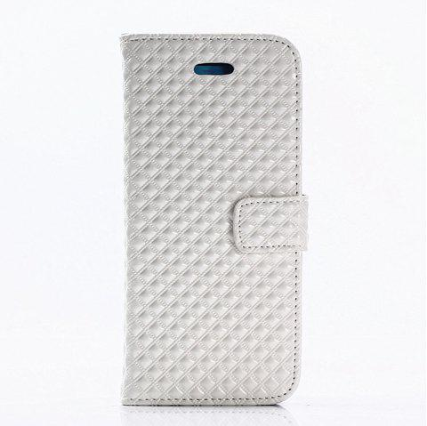 Cover Case for Samsung Galaxy S8 Fine Rhombic Leather - WHITE
