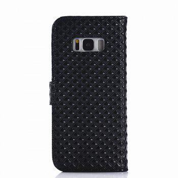 Cover Case for Samsung Galaxy S8 Fine Rhombic Leather - BLACK