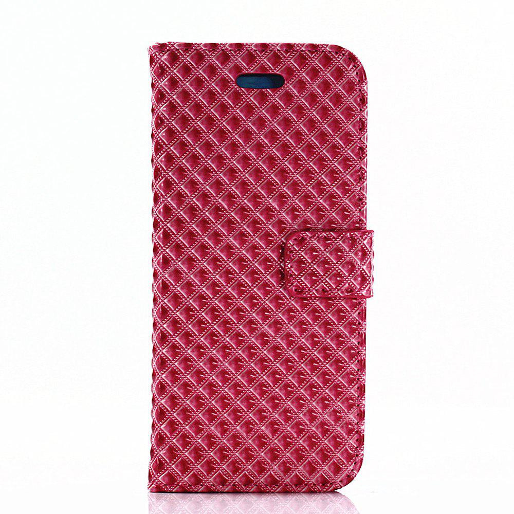 Cover Case for Samsung Galaxy S8 Fine Rhombic Leather - RED