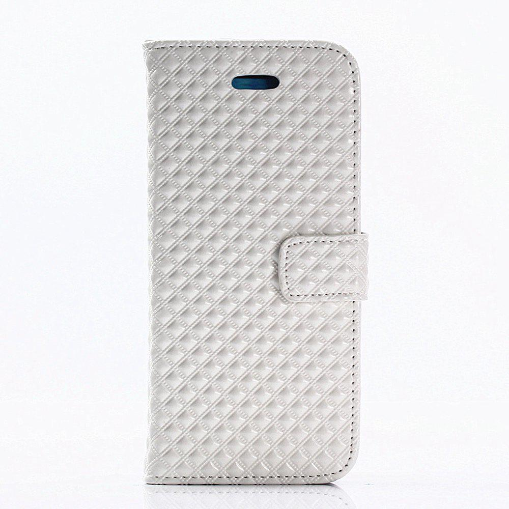 Cover Case for Samsung Galaxy S8 Plus Fine Rhombic Leather - WHITE