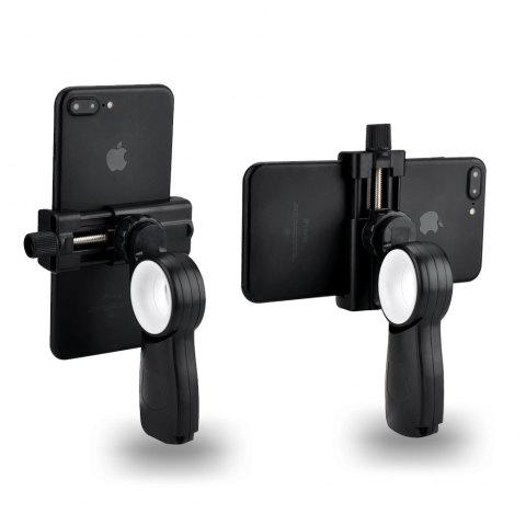 HC1+T1 Mini Tripod+ Smartphone Tripod Adapter  Desk Phone Mount Tabletop Stand For Gopro DV Cell Phone Hand Grip Holder - BLACK