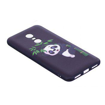 Relief Silicone Case for Xiaomi Redmi 5 Plus  Bamboo Panda Pattern Soft TPU Protective Back Cover - BLACK