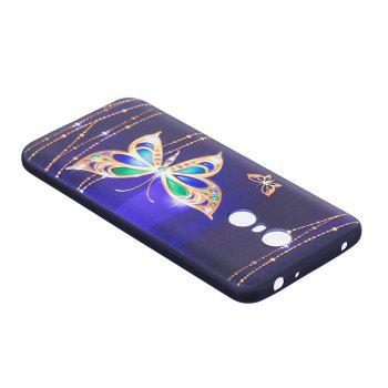 Relief Silicone Case for Xiaomi Redmi 5 Plus Large Butterfly Pattern Soft TPU Protective Back Cover - GOLDEN