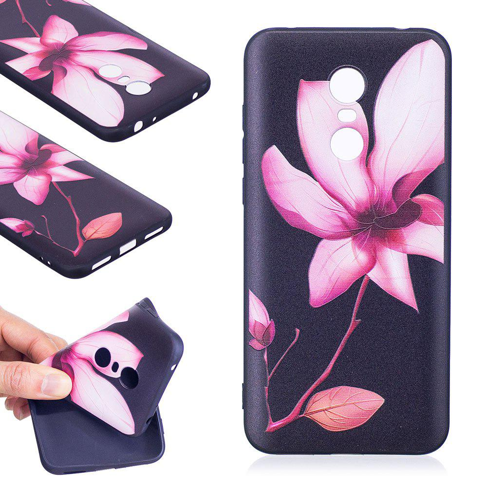 Relief Silicone Case for Xiaomi Redmi 5 Plus Lotus Pattern Soft TPU Protective Back Cover - PINK