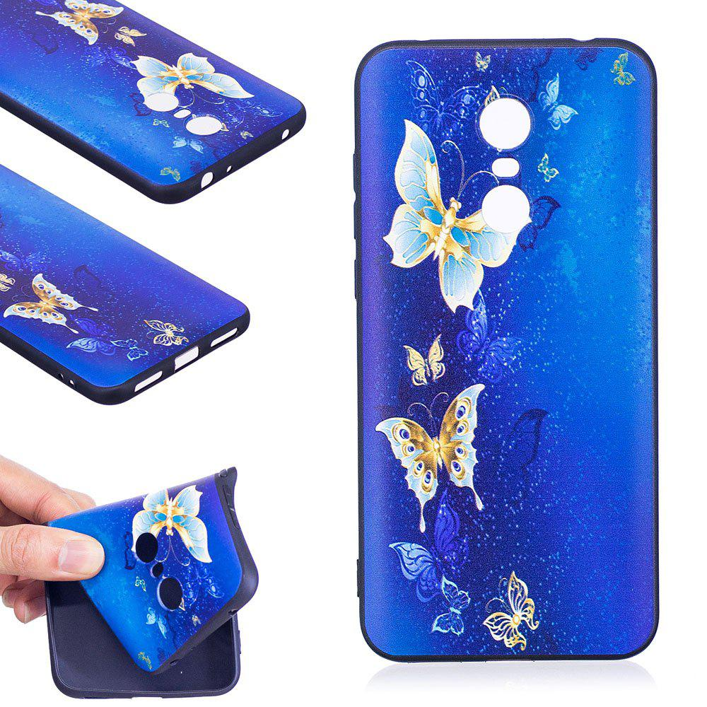 Relief Silicone Case for Xiaomi Redmi 5 Plus Golden Butterfly Pattern Soft TPU Protective Back Cover - GOLDEN