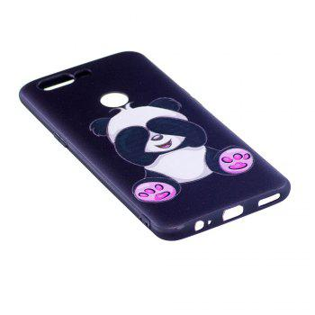 Relief Silicone Case for Oneplus 5T Panda Pattern Soft TPU Protective Back Cover - BLACK
