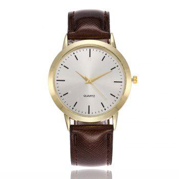 Khorasan Simple Classical Digital Scale Lady Belt Quartz Watch - BROWN BROWN