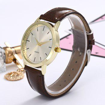 Khorasan Simple Classical Digital Scale Lady Belt Quartz Watch -  BROWN
