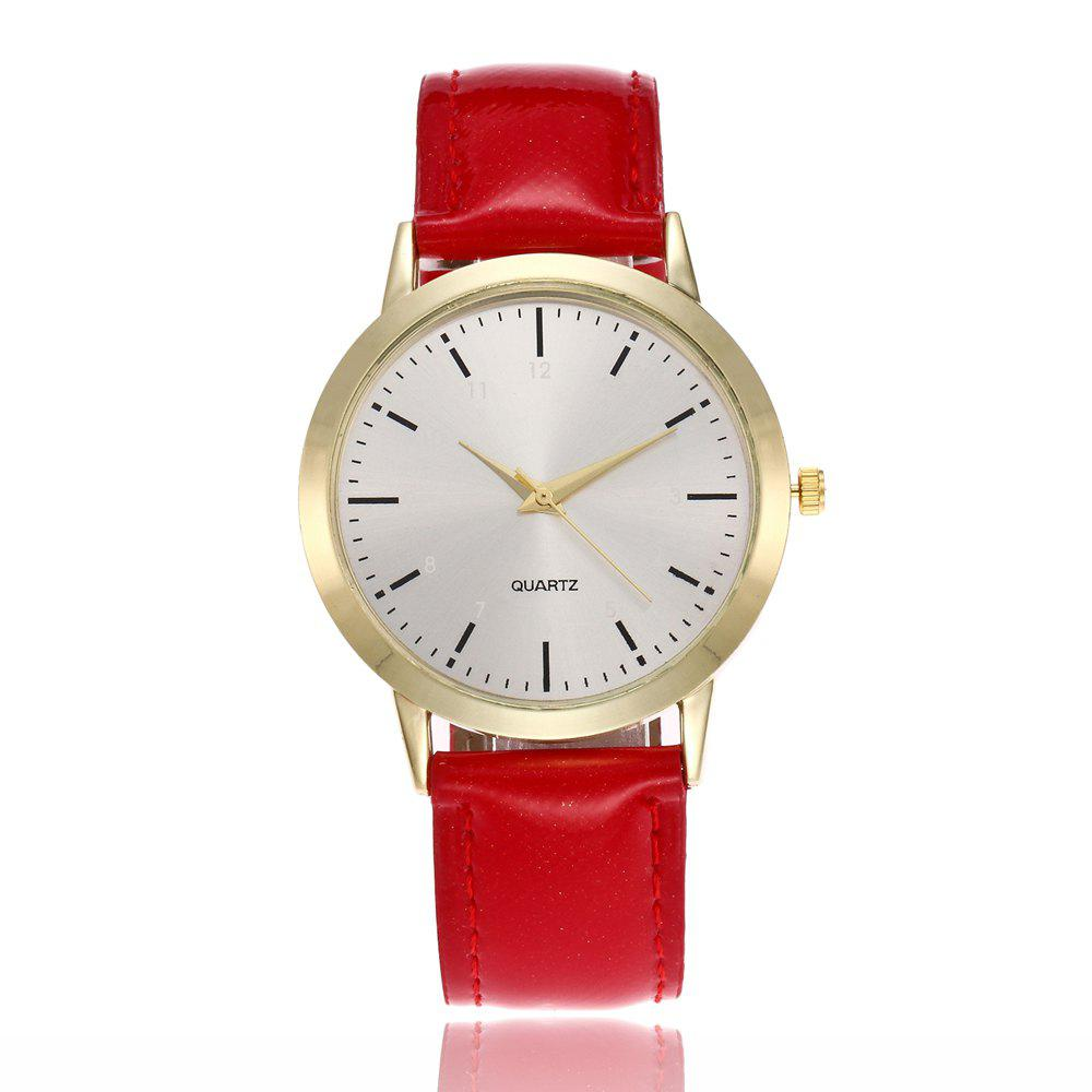 Khorasan Simple Classical Digital Scale Lady Belt Quartz Watch - RED