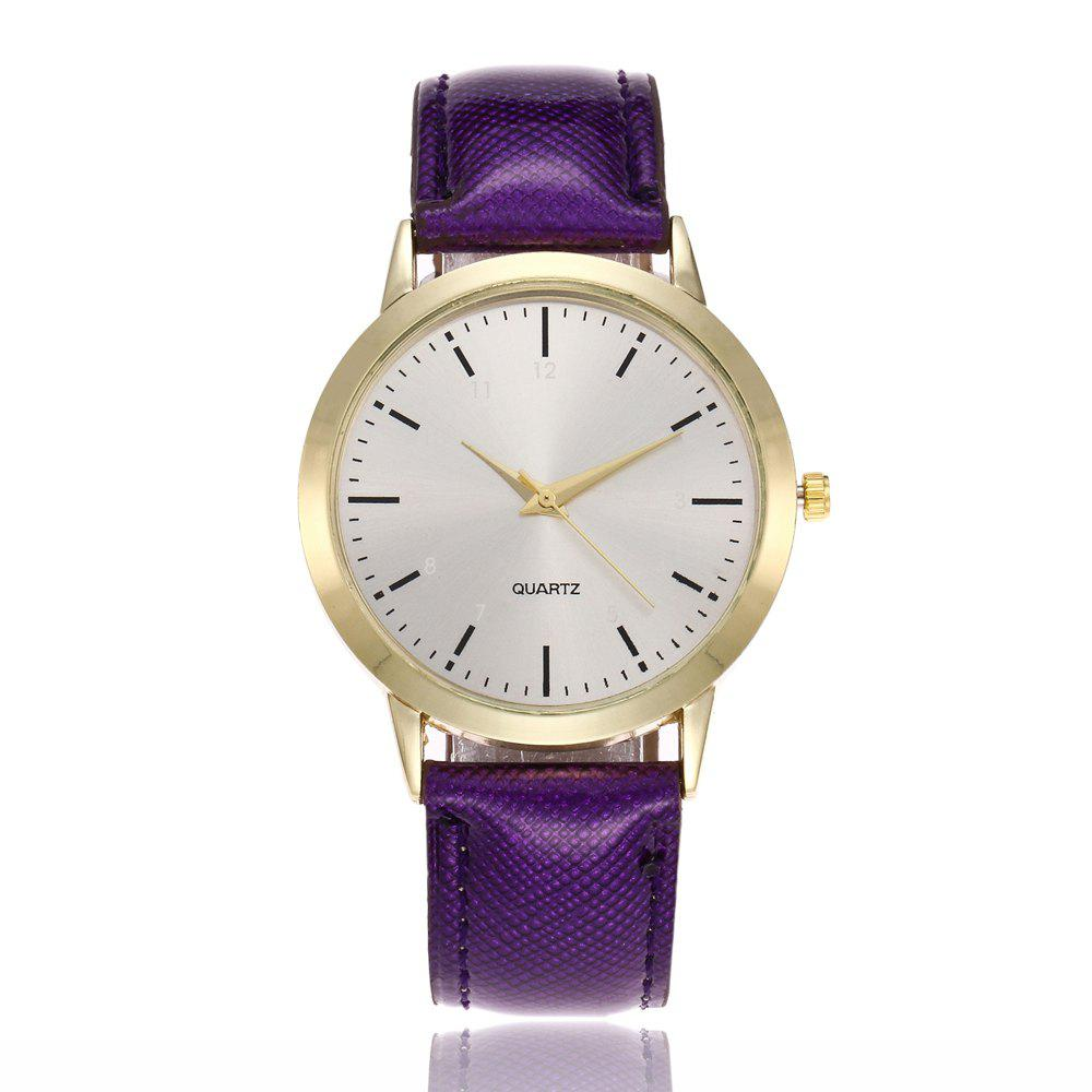 Khorasan Simple Classical Digital Scale Lady Belt Quartz Watch - PURPLE