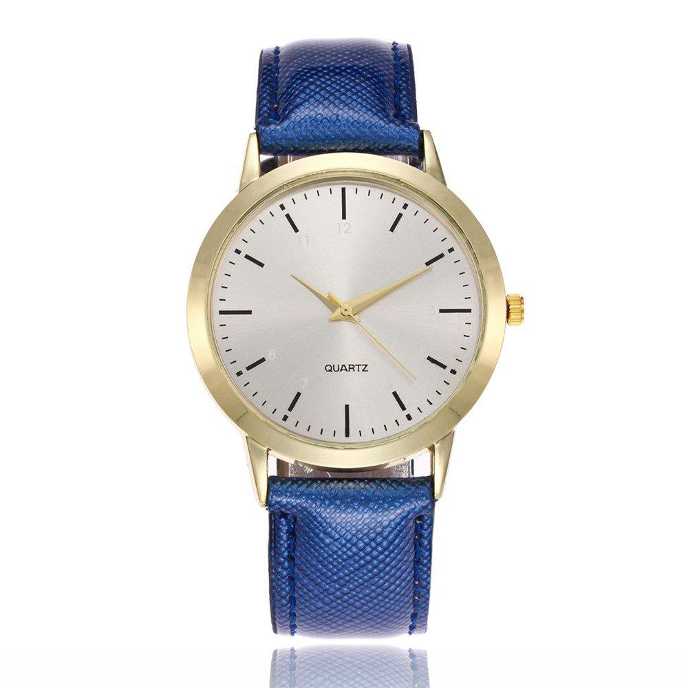 Khorasan Simple Classical Digital Scale Lady Belt Quartz Watch - BLUE