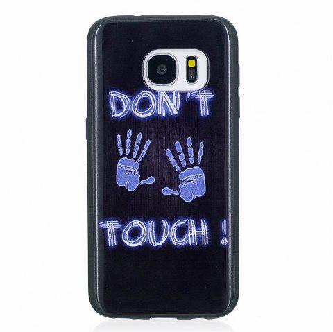 Marble Vein Soft Phone Back Cover Case For Samsung Galaxy S7 Anti-Knock Personality Case - BLUE/BLACK