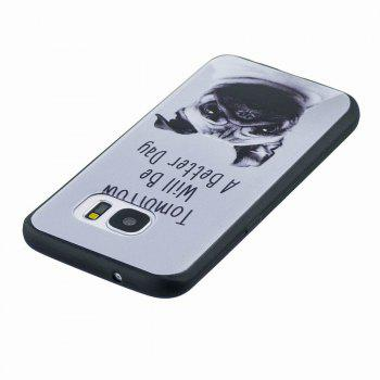 Marble Vein Soft Phone Back Cover Case For Samsung Galaxy S7 Anti-Knock Personality Case - GRAY