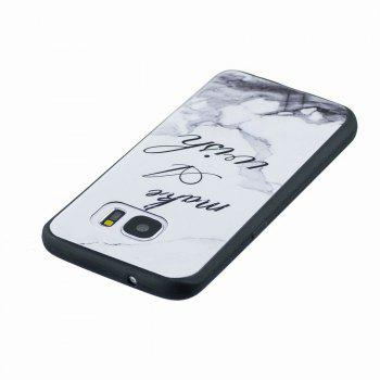 Marble Vein Soft Phone Back Cover Case For Samsung Galaxy S7 Anti-Knock Personality Case - WHITE