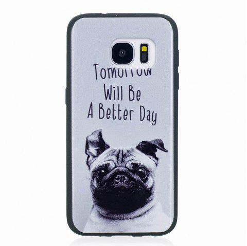 Marble Vein Soft Phone Back Cover Case For Samsung Galaxy S7 Edge Anti-Knock Personality Case - GRAY