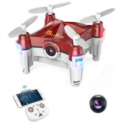 Beebeerun WiFi FPV RC Drone Mini Quadcopter - Rouge