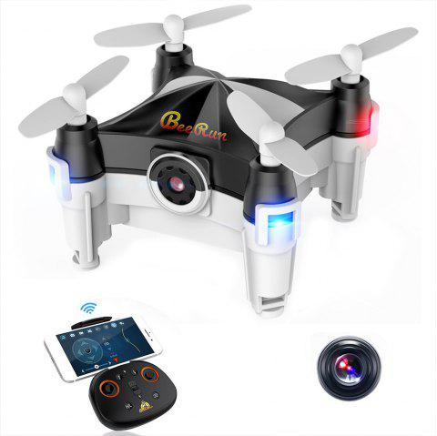 Beebeerun WiFi FPV RC Drone Mini Quadcopter - BLACK