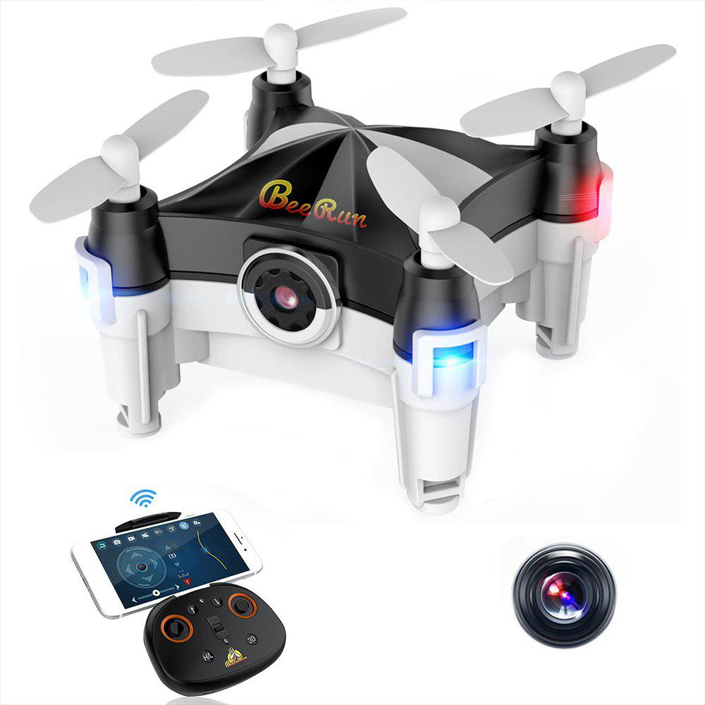 Beebeerun WiFi FPV RC Drone Mini Quadcopter - Noir