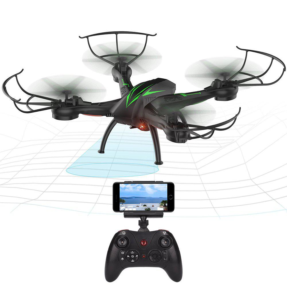 K200C RC Drone Quadcopter with Camera Live Video 2.4GHz 6-axis Gyro - BLACK