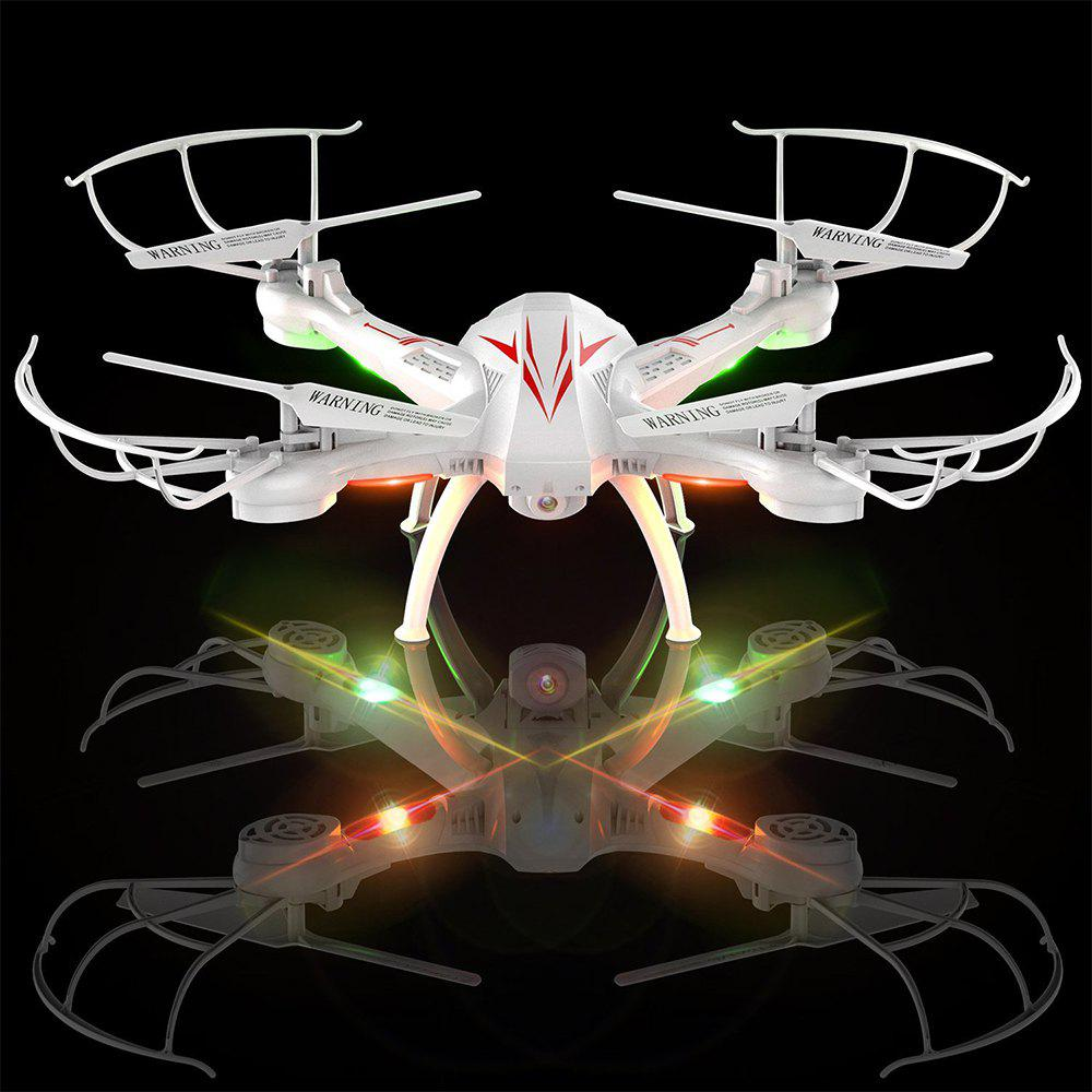 K200C RC Drone Quadcopter with Camera Live Video 2.4GHz 6-axis Gyro - WHITE