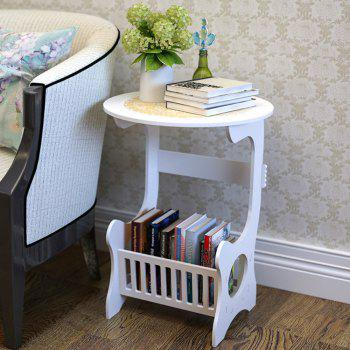 European Style Wood Solid White Coffee Table With Storage Function - WHITE WHITE