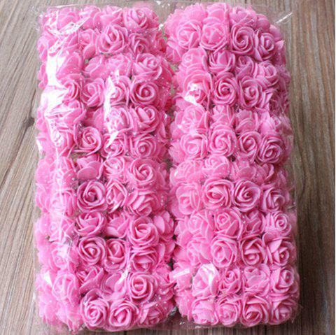 144 PCS Artificial Foam Rose Multicolor PE Flowers Ornaments Valentine's Day present - PINK