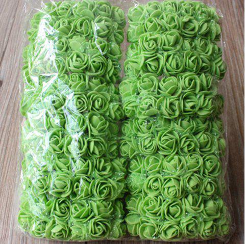 144 PCS Artificial Foam Rose Multicolor PE Flowers Ornaments Valentine's Day present - GREEN