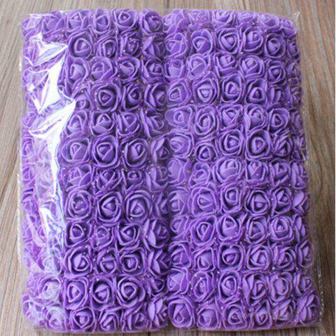 144 PCS Mousse Artificielle Rose Multicolore PE Fleurs Ornements Saint-Valentin cadeau - Pourpre
