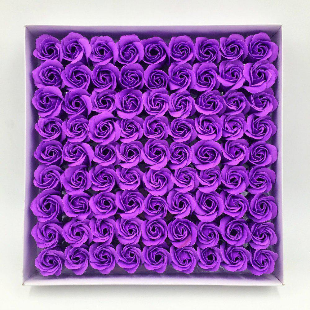 Rose Soap Flower Petal For WeddingValentine's Day Decorative Flowers - PURPLE