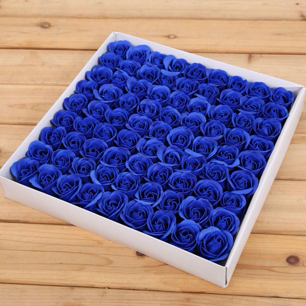 Rose Soap Flower Petal For WeddingValentine's Day Decorative Flowers - BLUE