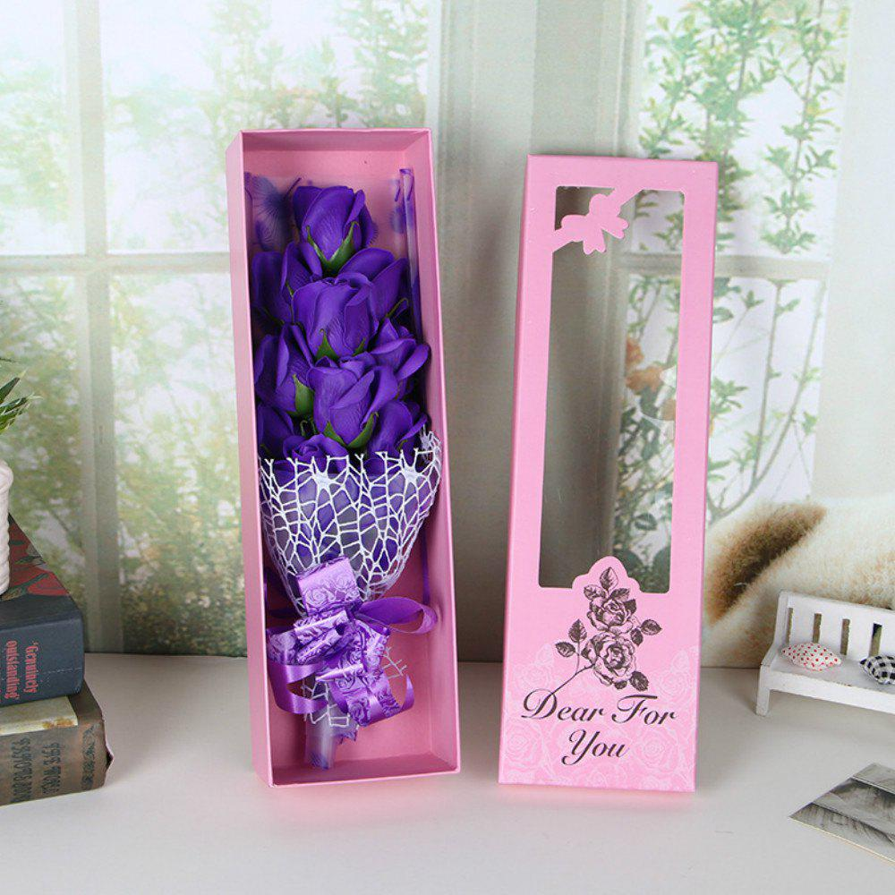 Valentine's Day Cartoon  Soap Rose Flower Festivals Birthday Wedding  Gift - PURPLE