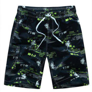 Men's Quick Drying Breathable Bottoms Prints Beach Swim Shorts Polyester Summer Green Blue Orange Pants - YELLOW YELLOW