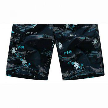 Men's Quick Drying Breathable Bottoms Prints Beach Swim Shorts Polyester Summer Green Blue Orange Pants - BLUE 4XL