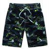 Men's Quick Drying Breathable Bottoms Prints Beach Swim Shorts Polyester Summer Green Blue Orange Pants - YELLOW 6XL