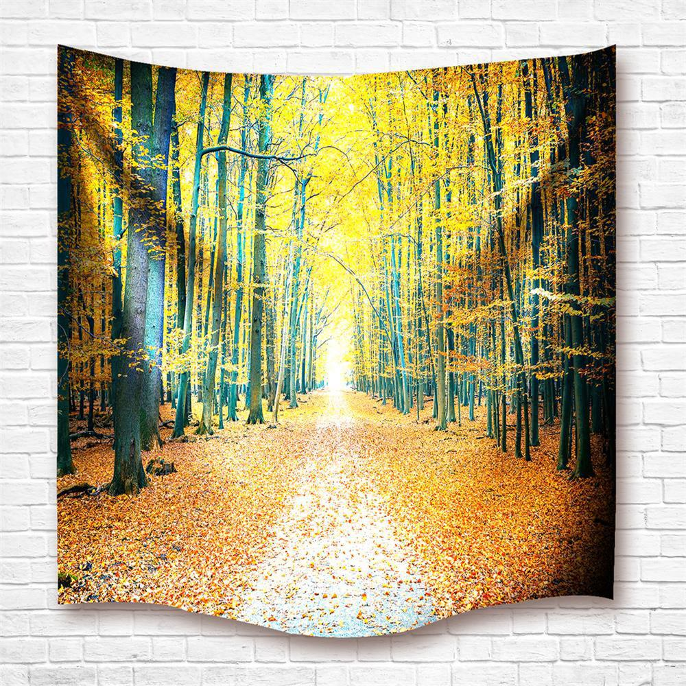 Golden Grove 3D Digital Printing Home Wall Hanging Nature Art Fabric Tapestry For Dorm Bedroom Living Room Decorations