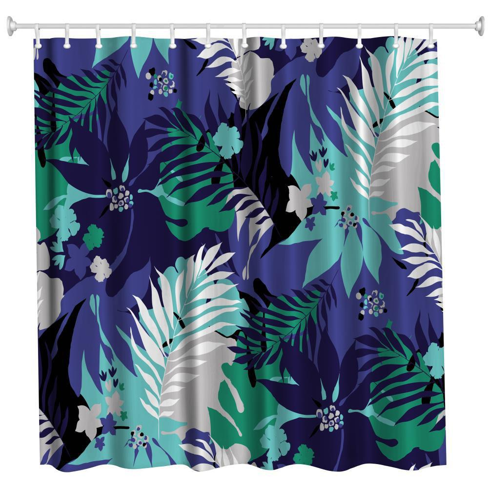 2018 Leaves Polyester Shower Curtain Bathroom High Definition 3D ...