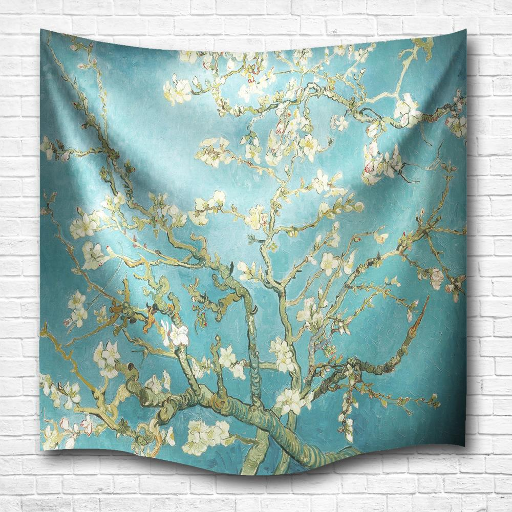 Wintersweet 3D Digital Printing Home Wall Hanging Nature Art Fabric Tapestry for Dorm Bedroom Living Room Decorations green lake 3d printing home wall hanging tapestry for decoration