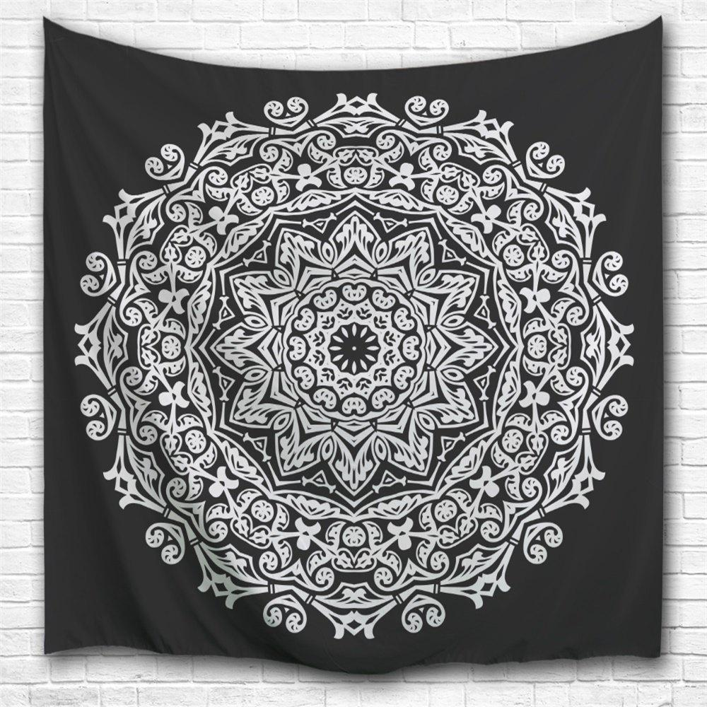Black and White Mandala 3D Digital Printing Home Wall Hanging Nature Art Fabric Tapestry for Bedroom Living Decorations green lake 3d printing home wall hanging tapestry for decoration