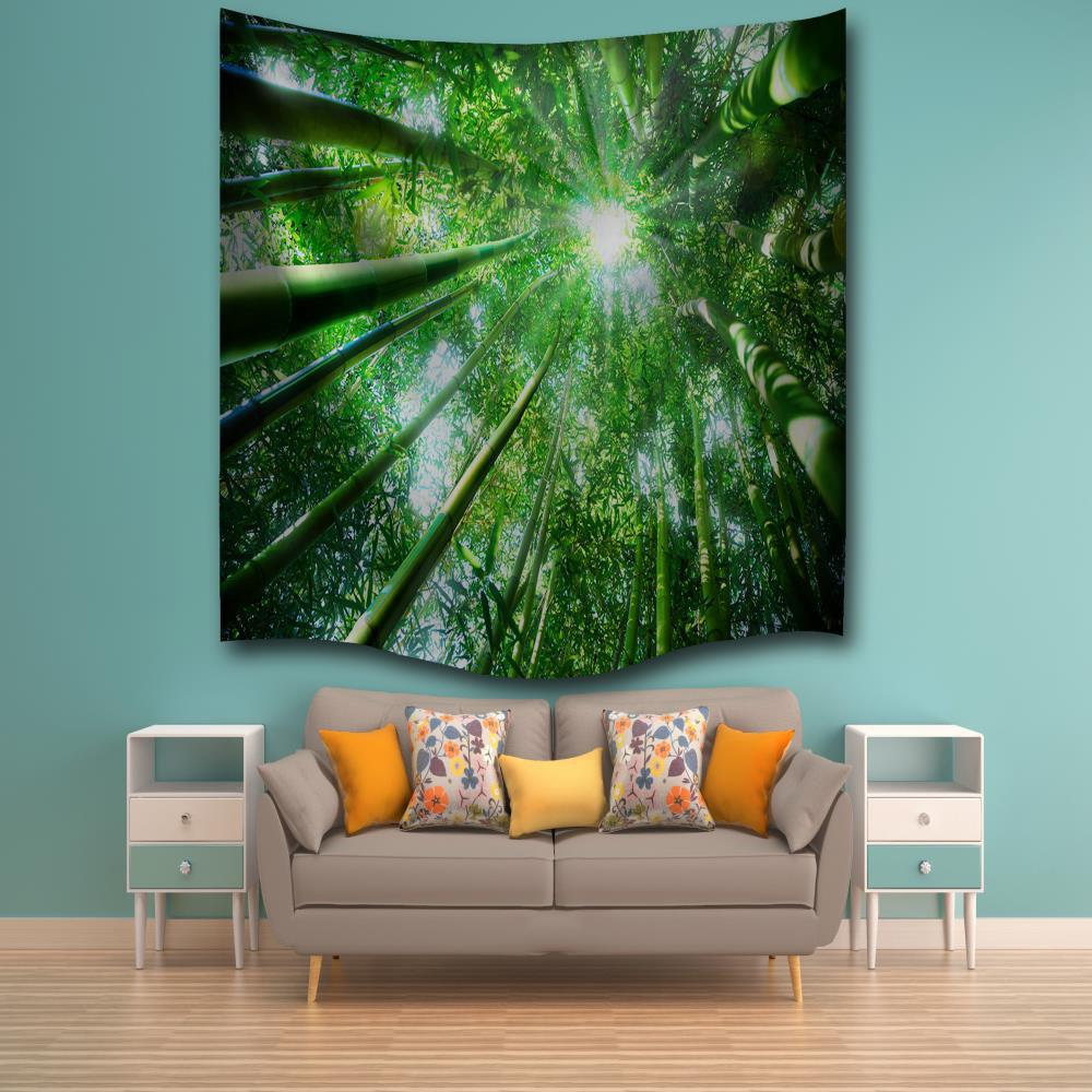 Bamboo Sunshine 3D Digital Printing Home Wall Hanging Nature Art Fabric Tapestry for Bedroom Living Room Decorations high quality led modern minimalist crystal pendant lamp light luxury living room bedroom art creative restaurant hanging lights