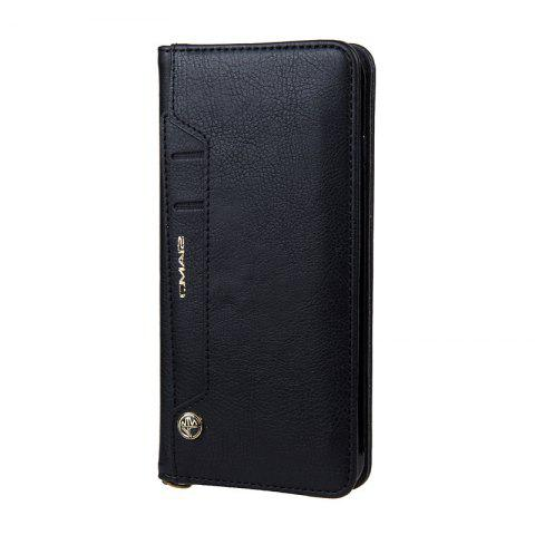 Pour iPhone 7 Plus Clamshell Rotary Card Sac à main - Noir