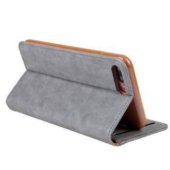 For iPhone 7 Plus  Clamshell Rotating Card Purse Holster - GRAY