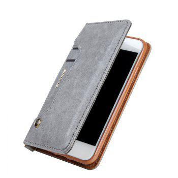 Pour iPhone 8 Clamshell Rotating Card Purse Holster - [