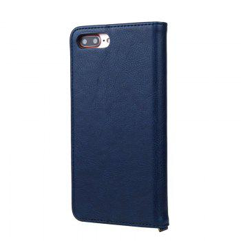 For iPhone 8 Plus Clamshell Rotating Card Purse Holster - BLUE