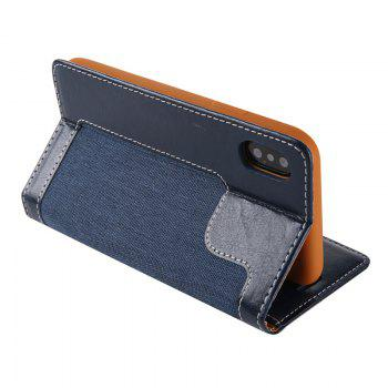 For Iphone X Belt Wallet Leather Case - CERULEAN