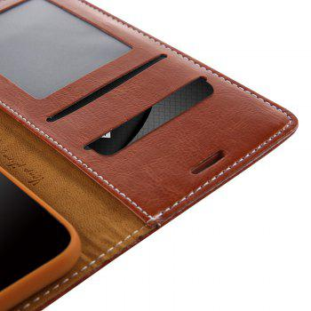 For Iphone X Belt Wallet Leather Case - BROWN